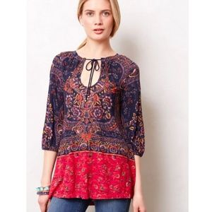 Meadow Rue Paisley Tunic Top